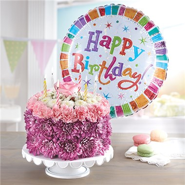 1800FLOWERS BIRTHDAY WISHES FLOWER CAKE PASTEL 1800Flowers