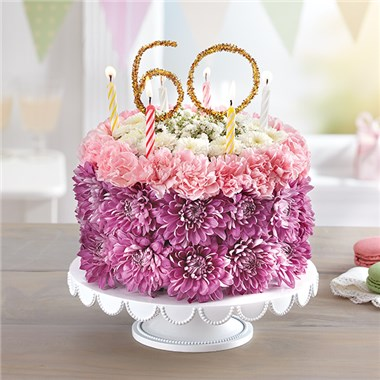 1800FLOWERS BIRTHDAY WISHES FLOWER CAKE PASTEL MILESTONE 1