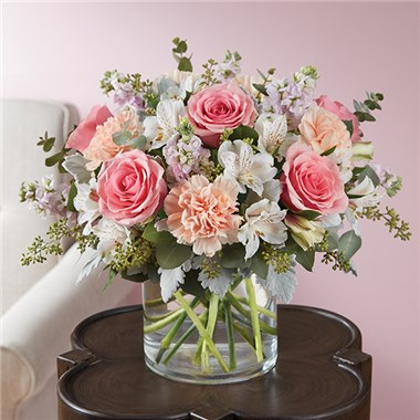 1 800 Flowers 174 Blushing Blooms Bouquet 1 800 Flowers