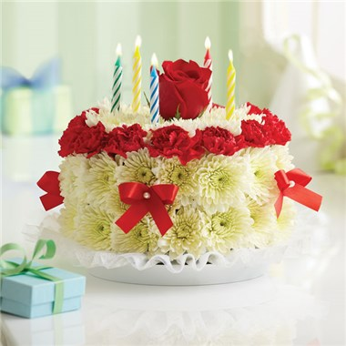 1 800 FlowersR Birthday Flower CakeR Bright 1990